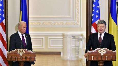 Der ukrainischer Präsident Petro Poroschenko und US-Vizepräsident Joe Biden während ihrer gemeinsamen Konferenz in Kiew am 16. Januar 2017.