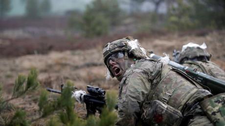 NATO-Gefechtsübungen in Lettland im Zuge der Operation Atlantic Resolve.