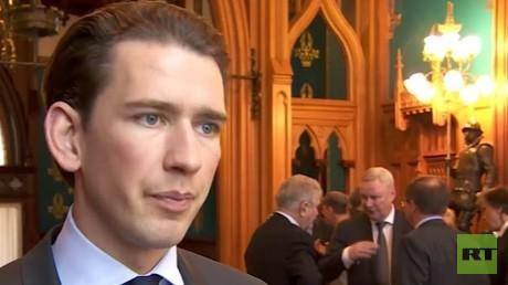 Sebastian Kurz, Österreichs Außenminister im Gespräch mit RT.