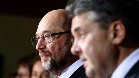 Sigmar Gabriel (r.) und Martin Schulz (l.)