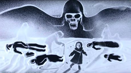 Künstlerin aus der Krim gedenkt Opfer der Leningrader Blockade mit Schneezeichnungenfilm [VIDEO]