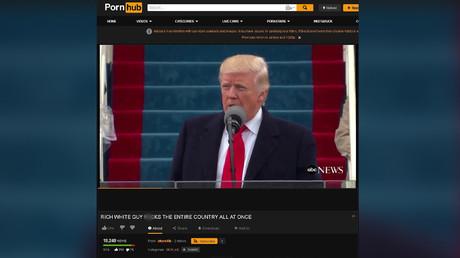 Video von Trumps Vereidigungszeremonie auf Pornhub veröffentlicht