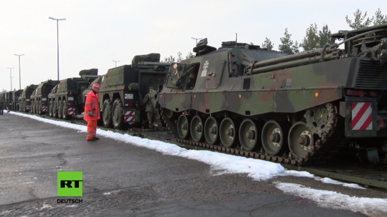 Bundeswehr bringt Militärgerät auf den Weg nach Litauen – Erste deutsche Militärs bereits vor Ort