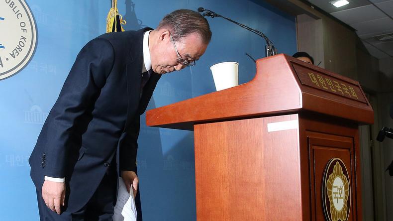 Ban Ki-moon gibt seinen Anspruch auf Präsidentschaftsposten in Südkorea auf