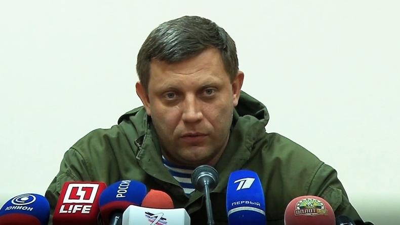 Minsk ist nicht tot: Der Chef der Donezker Volksrepublik Sachartschenko zu ukrainischen Angriffen