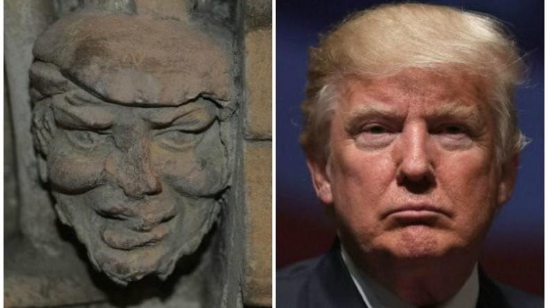 700 Jahre alte Skulptur von Trump in britischer Kirche entdeckt
