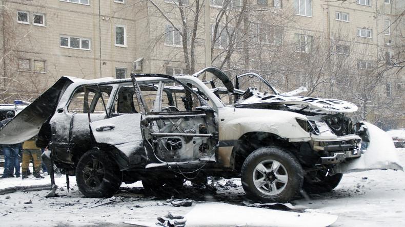 Wagen des Volksmiliz-Chefs von Lugansk explodiert – zwei Todesopfer
