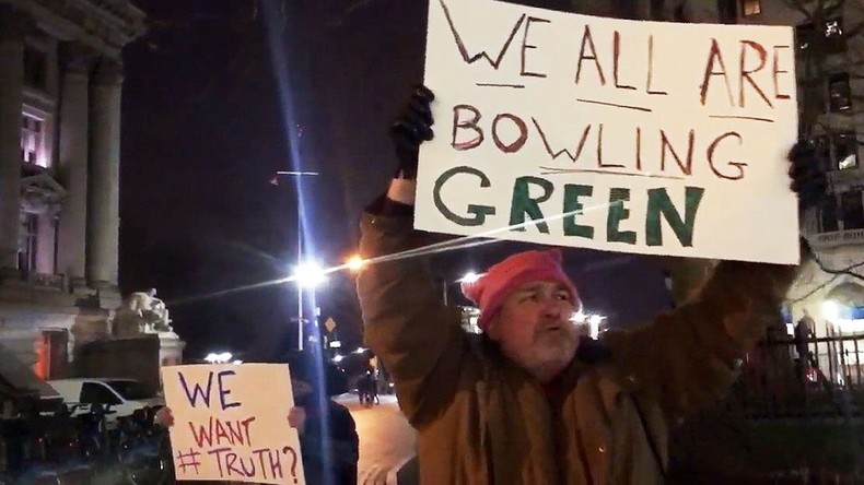 """New York: Fake-Gedenkaktion für """"Opfer"""" von Bowling Green Massaker"""