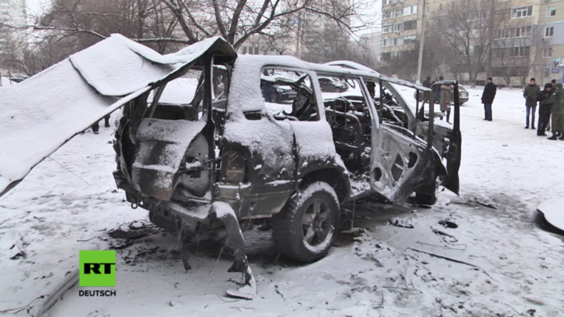 Autobomben-Anschlag in Lugansker Volksrepublik: Ukrainischer Geheimdienst unter Verdacht