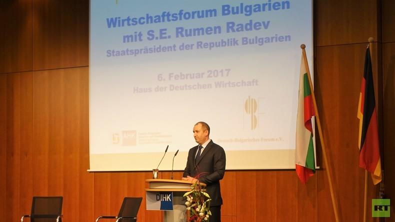 Bulgarischer Präsident in Berlin zu Russland: Wir wollen Konfrontation und Risiken vermeiden