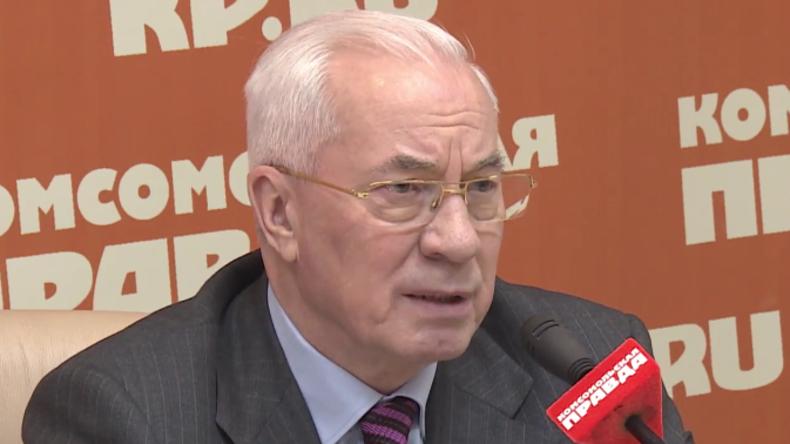 """Ehemaliger Ministerpräsident der Ukraine Asarow: """"In Kiew sitzen heute nur noch Marionetten"""""""