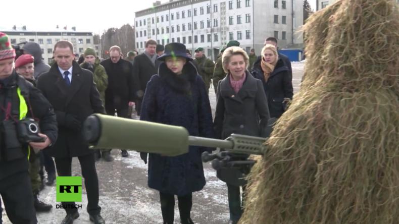 Litauische Präsidentin und Ursula von der Leyen begrüßen deutsch-geführtes Kampfbataillon der NATO