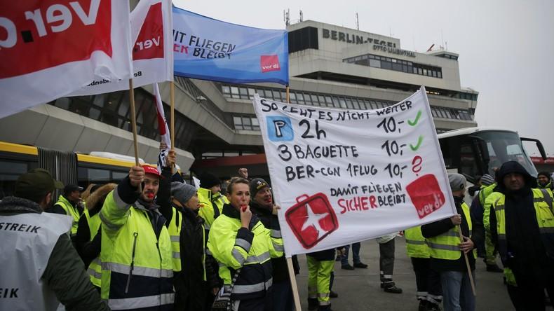 Über 130 Flüge wegen Streiks an Berliner Flughäfen gestrichen