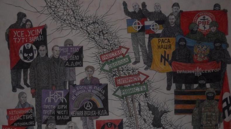 Terror gegen politisch Andersdenkende: Rechtsradikales Pogrom gegen Kunstausstellung in Kiew