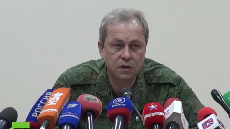 Basurin: Die ukrainische Regierung will einen Krieg in Osteuropa entfesseln