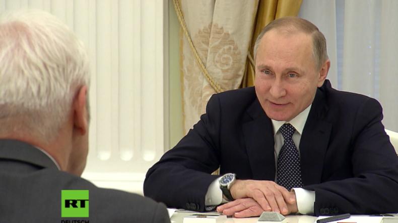 VW-Chef Müller bedankt sich persönlich bei Wladimir Putin für die langjährige Unterstützung