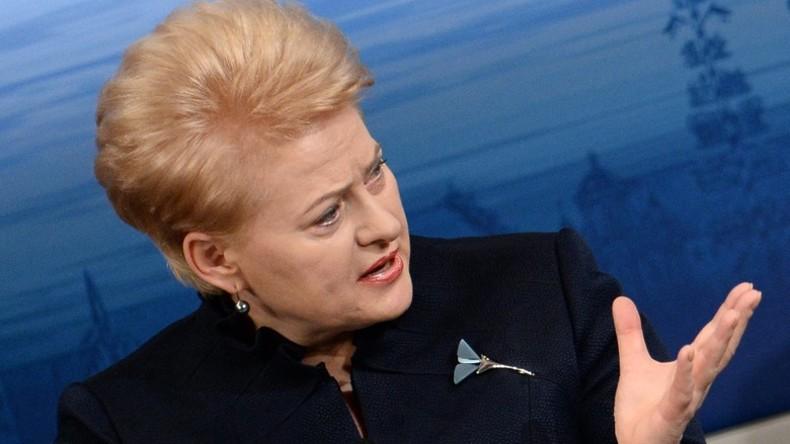 Litauens Präsidentin: Russland bereitet sich demonstrativ auf Krieg gegen Westen vor