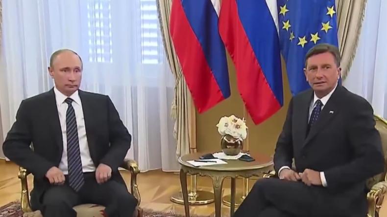 Live: Putin und slowenischer Amtskollege Pahor geben gemeinsame Pressekonferenz
