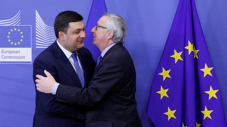 Jean-Claude Juncker erfreut Ukrainer mit Bekanntgabe der Frist für Aufhebung der Visumpflicht