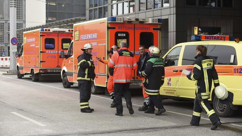 Feuerwehr-Großeinsatz am Hamburger Flughafen