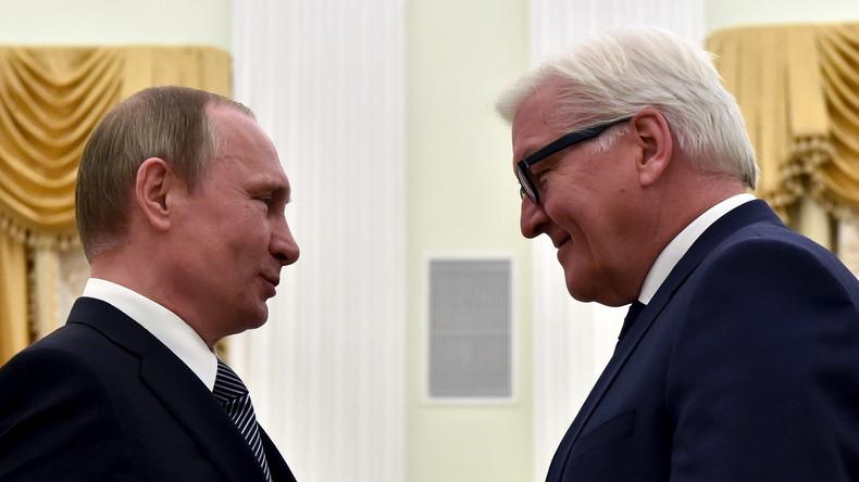 Wladimir Putin lädt Frank-Walter Steinmeier ein, Russland jederzeit zu besuchen