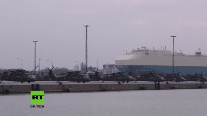 """Weiteres US-Kriegsgerät erreicht Bremerhaven: Kampfhubschrauber gegen die """"russische Aggression"""""""
