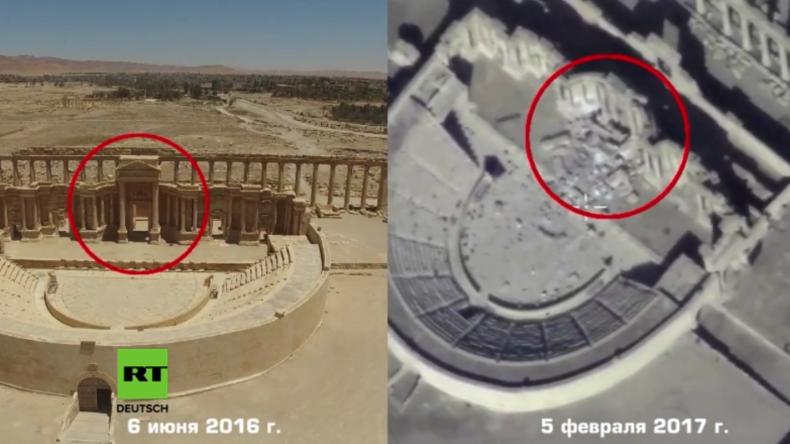 Es stand fast 2.000 Jahre - IS sprengt Palmyras berühmtes Amphitheater in die Luft