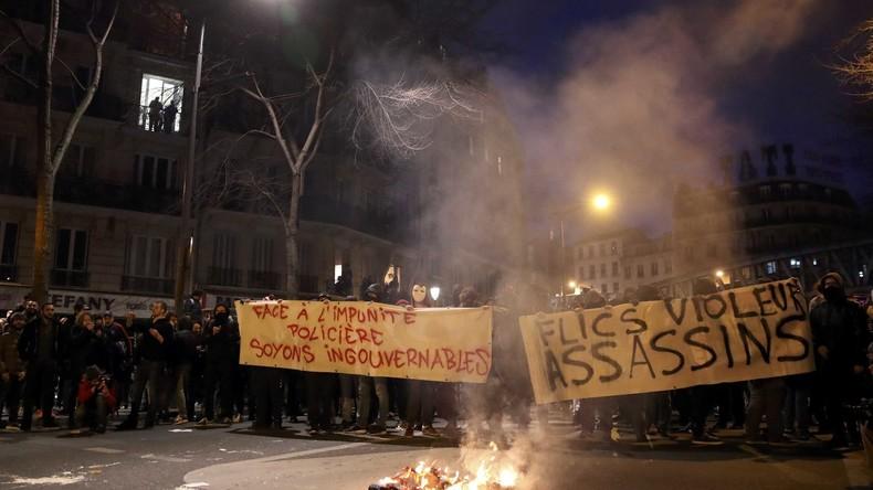 Live: Proteste gegen Polizeigewalt in Paris eskalieren erneut