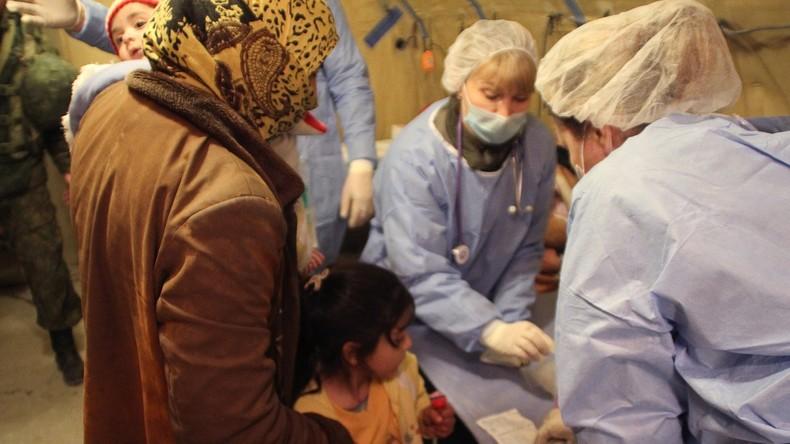 Syrien: Russland verteilt 26 Tonnen Güter zur humanitären Hilfe