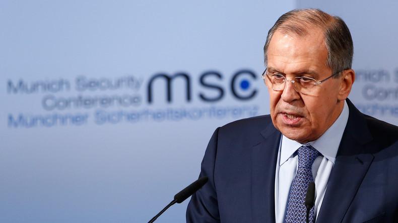 Lawrow auf Sicherheitskonferenz: Zeit ist reif für neue Weltordnung zum Wohle aller