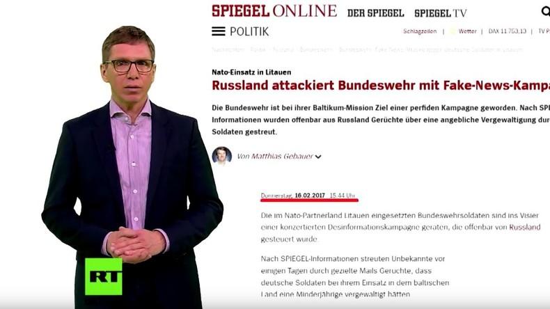 Fake-News per Copy & Paste: Deutsche Medien unterstellen Russland Propaganda gegen Bundeswehr