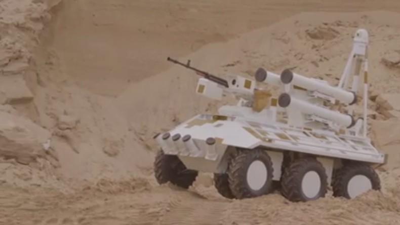 """Die Ukraine präsentiert unbemanntes Panzerabwehrraketensystem """"Phantom"""""""