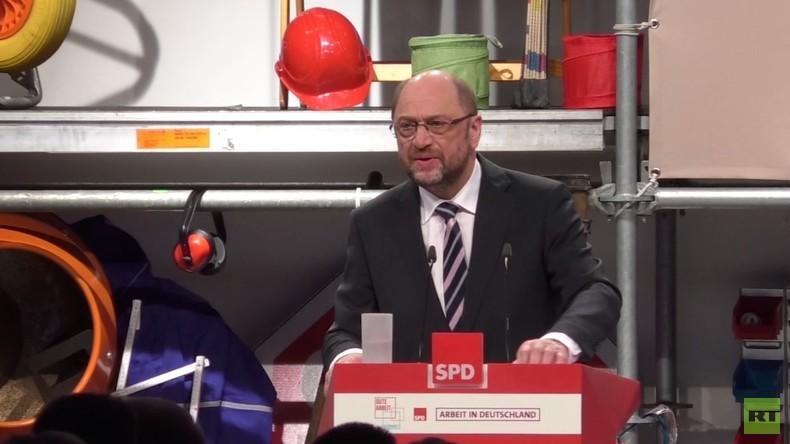 Der Arbeiteranwalt - Martin Schulz wirbt in Bielefeld um Stimmen