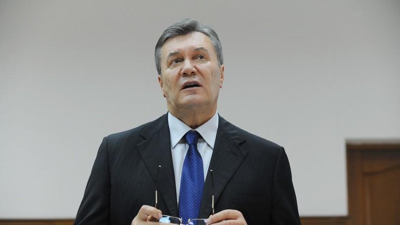 Ex-Präsident Janukowitsch: Blutvergießen in der Ukraine muss sofort aufhören