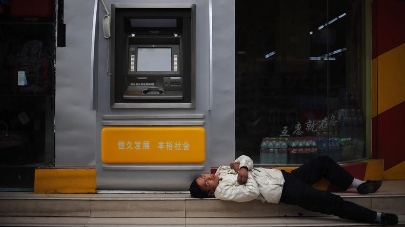 Robuste chinesische Geldautomaten lassen sich nicht mit Hilfe von Schweißgerät ausrauben