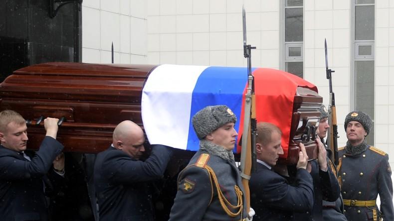 Der russische UN-Botschafter Witali Tschurkin heute in Moskau beigesetzt