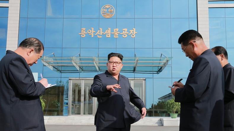 Kim Jong-Un im Gespräch mit Journalisten