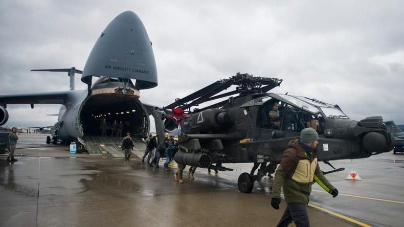 Operation Atlantic Resolve: Verlegung von US-Kampfhubschraubern nach Griechenland und Deutschland