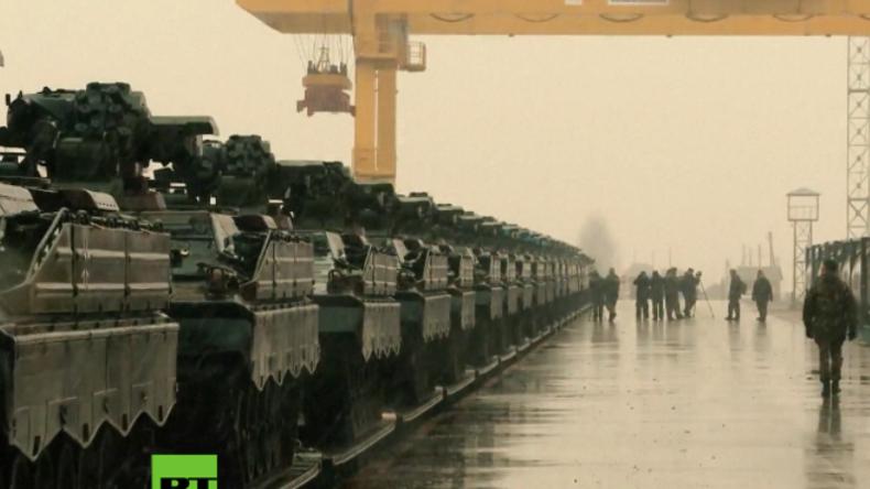 Deutsche Panzer erreichen Litauen