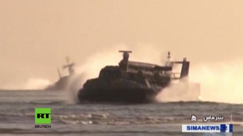 Iran führt großangelegte Marineübung durch.