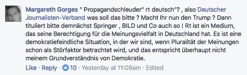 Sprecher des Deutschen Journalistenverbandes hat eine Obsession: RT Deutsch