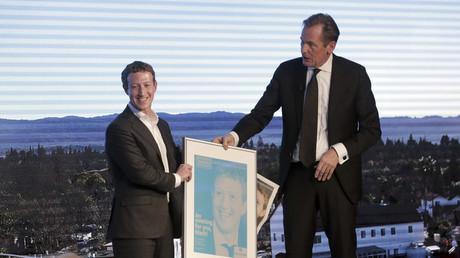 Mathias Döpfner und Mark Zuckerberg. Beim letzten Deutschlandbesuch des Facebook-Gründers trafen die beiden CEOs aufeinander.