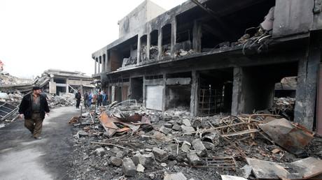 Bilder der Zerstörung in der umkämpften Stadt Mossul.