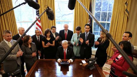 Im Fokus der Medien: der neue US-Präsident Donald Trump.