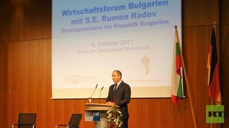 Am 6. Februar trat der bulgarische Staatspräsident Rumen Radev als Ehrengast auf dem Deutsch-Bulgarischen Wirtschaftsforum auf.