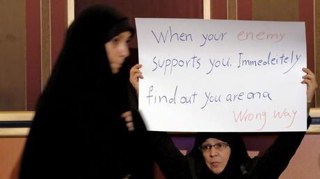 Kampagne des konservativen Lagers vor den Parlamentswahlen, 24. Februar 2016, Teheran.