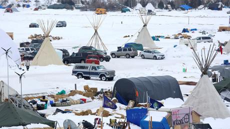 Ein Teil des Protestcamps gegen die Dakota-Access-Pipeline