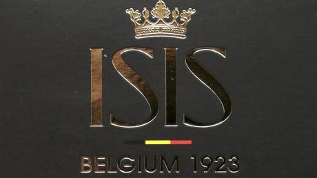 Logo der belgischen Marke ISIS (Italo Suisse) in Brüssel, 10. November 2014. Später änderte die Firma ihren Namen.