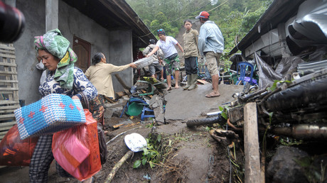 Indonesien kämpft gegen eine starke Überschwemmung in zentralen Teilen des Landes