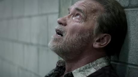 Arnold Schwarzenegger spielt den verzweifelten Vater im Film nach der Flugzeugkollision über dem Bodensee
